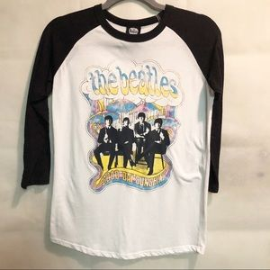 The Beatles Colorful Graphic Concert Tee Size M